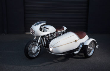 Triumph side car custom built australia vittoria coffee cafe racer
