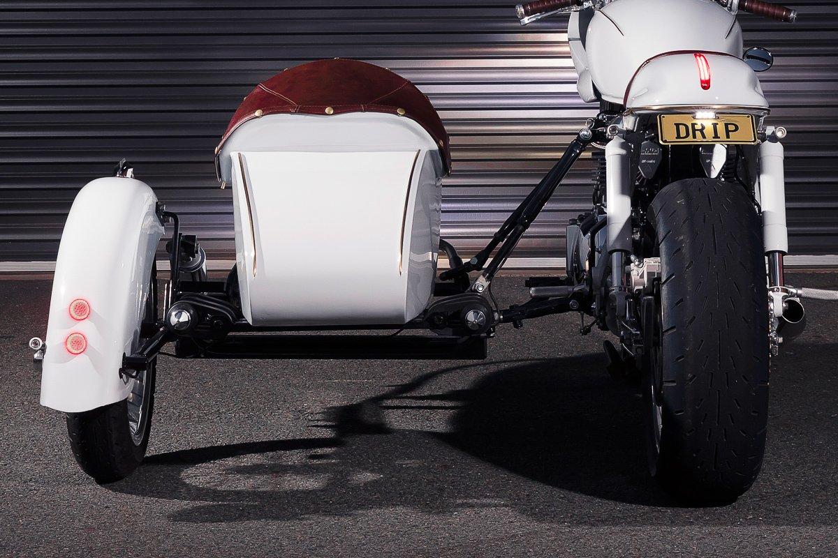 Triumph sidecar Cafe Racer Vittoria coffee LED brake lights Chopper