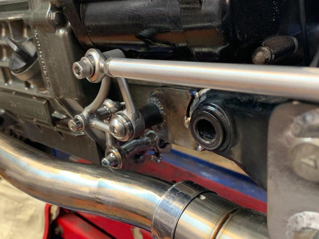 Custom CX500 vcafe racer rear sets