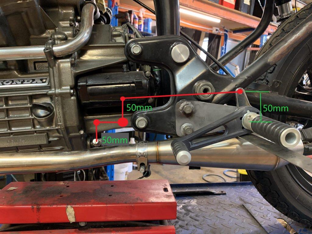 Honda CX500 foot peg install rear set pegs