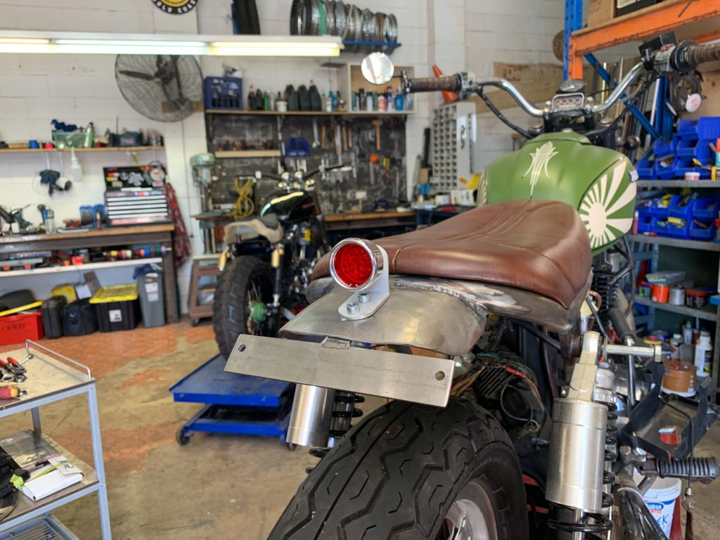 Sportster tail light install Custom bike Cafe Racer