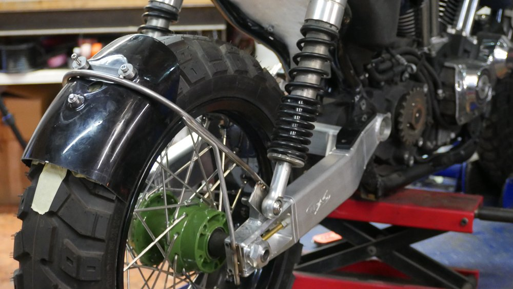 scrambler tail tidy bracket swing arm mounted