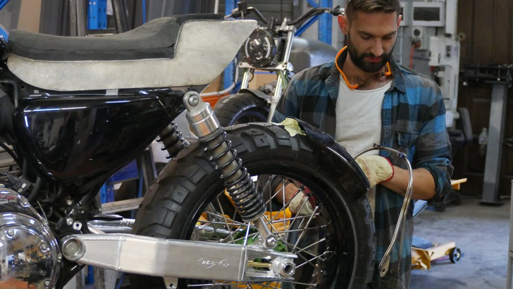 making a tail tidy cafe racer tracker scrambler