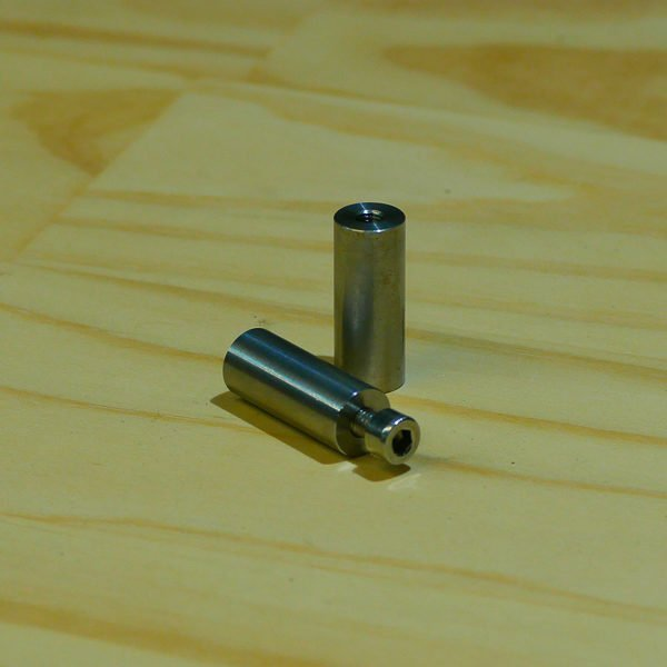 Threaded bung stainless steel M5 countersunk bung fabrication slug