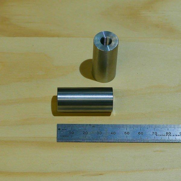 threaded fabrication bung weld on slug stainless steel motorbike