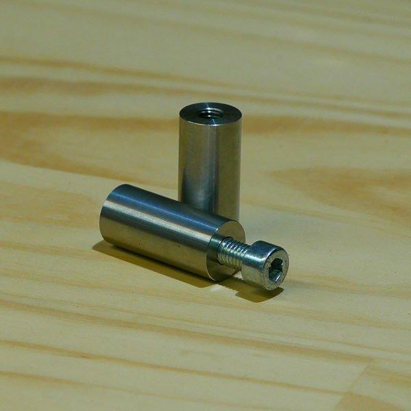 M8 metric threaded fabrication bung weld on slug stainless steel motorbike