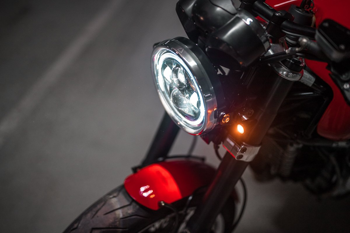 Ducati GT1000 LED headlight Cafe Racer blog