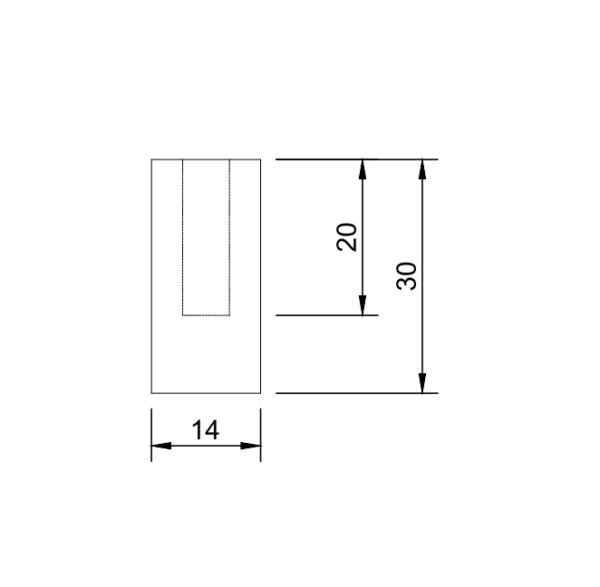 M6 6mm metric threaded weld in slug bung stainless steel countersunk