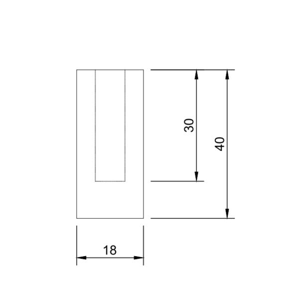 M8 8mm metric threaded weld in slug bung stainless steel countersunk