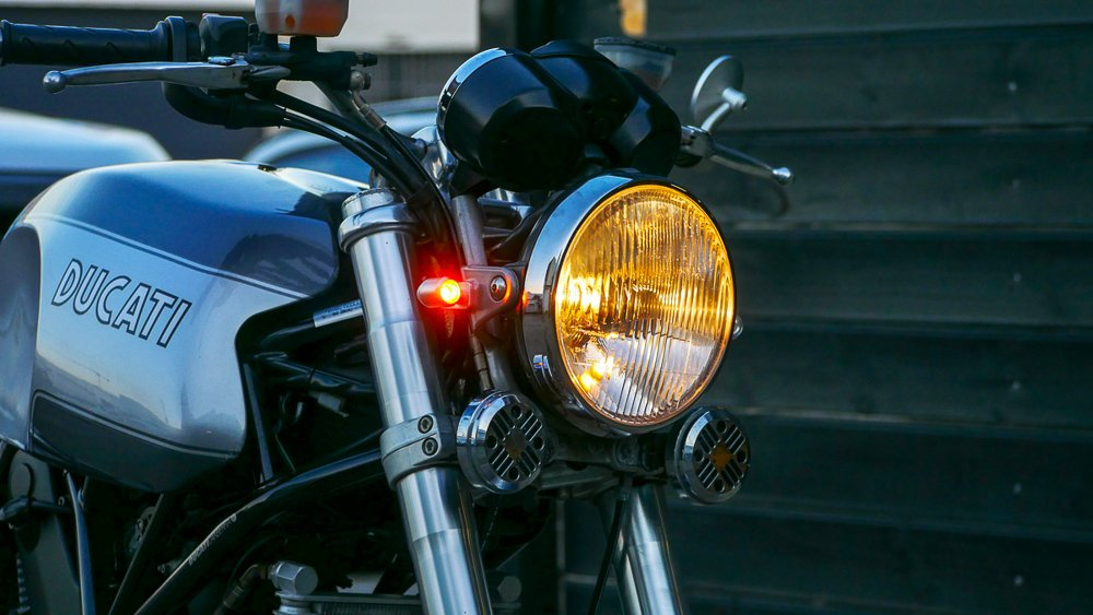 Front LED blinkers how to install cafe racer ducati