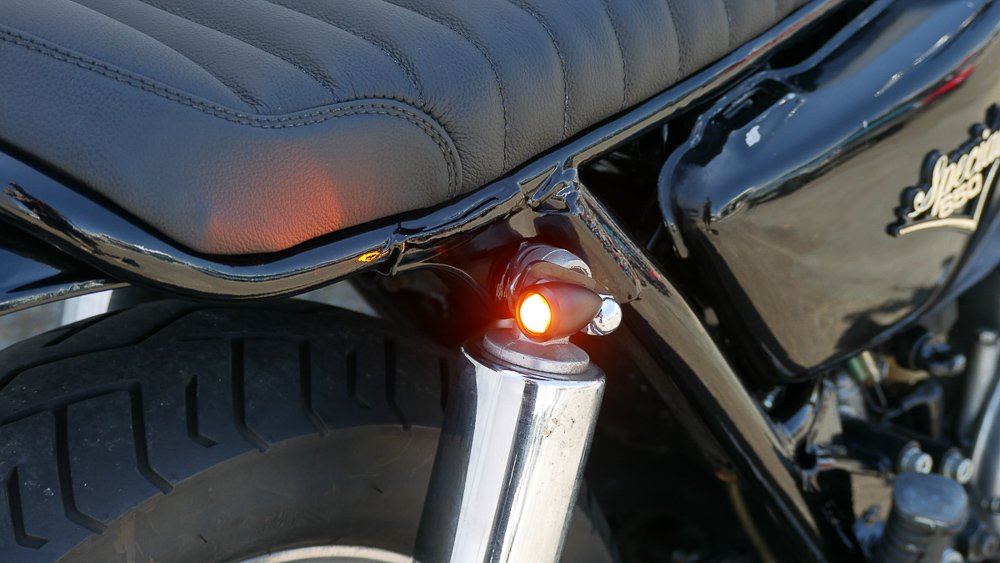 XS650 how to install blinkers on the rear Yamaha motorcycle