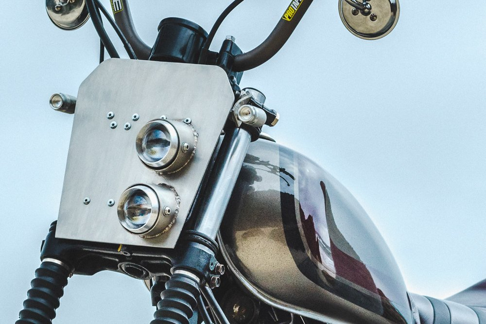 Mounting LED turn signals on a Scrambler motorcycle front