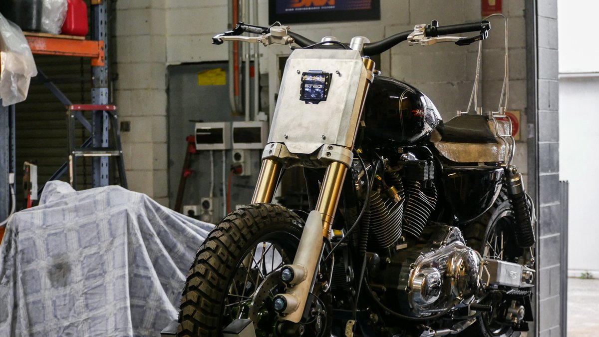adventure Sportster scrambler harley build how to