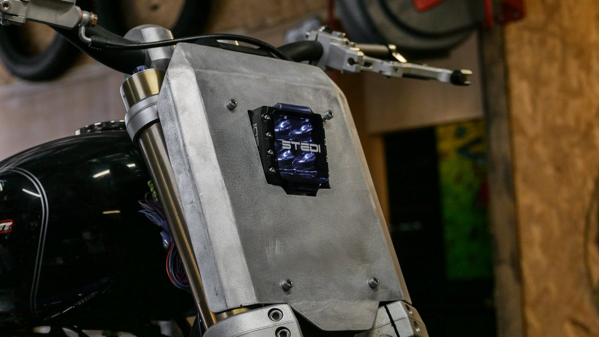sportster LED headlight scrambler