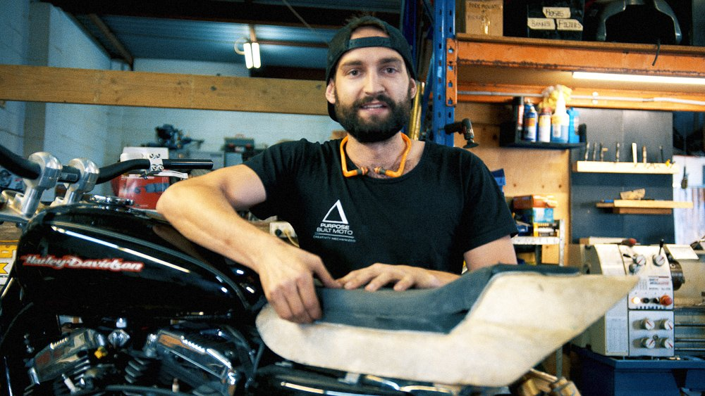Sportster tracker tail scrambler tracker build