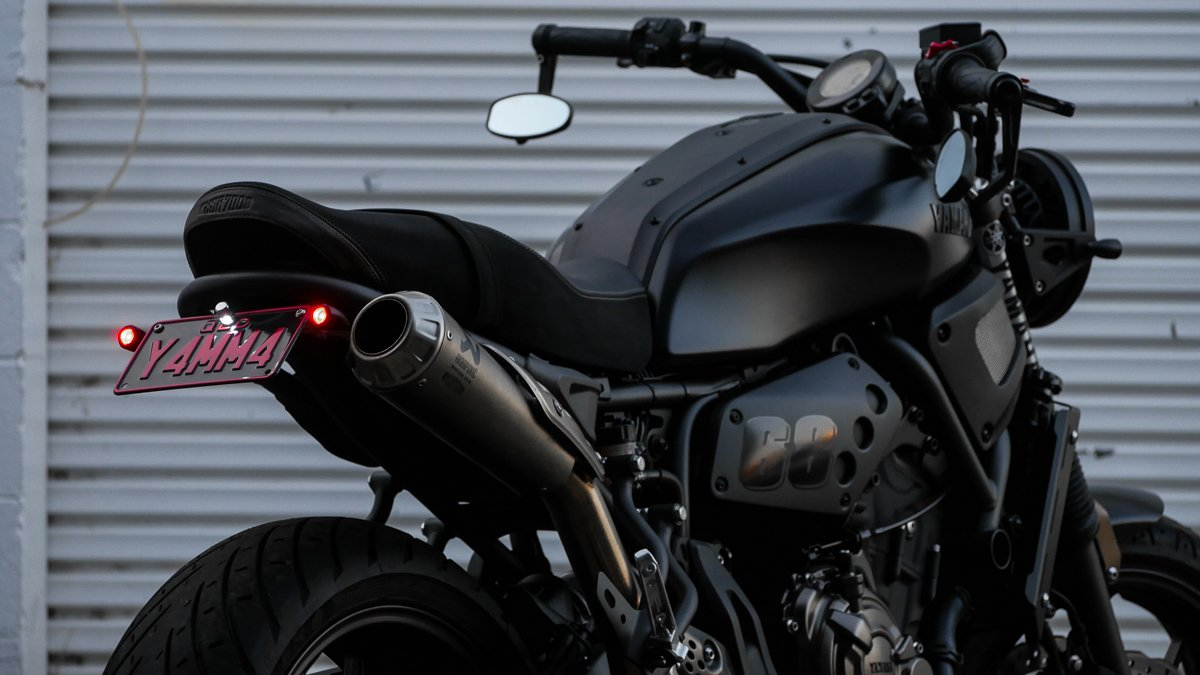 purpose built moto LED 3 in 1 turn brake tail XSR700 tail tidy