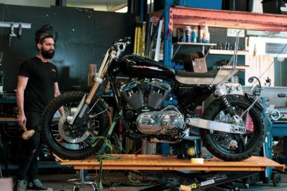sportster tracker scrambler vbuild how to purpose built moto