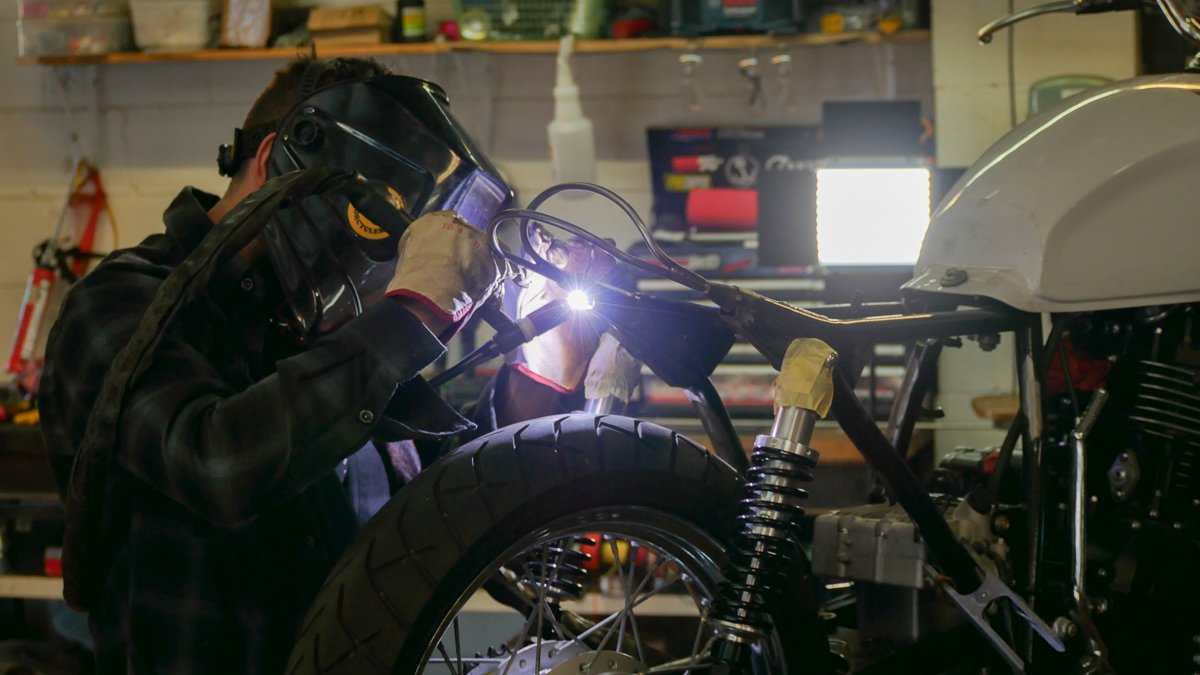 motorcycle fabrication DIY tail hoop cafe racer scrambler