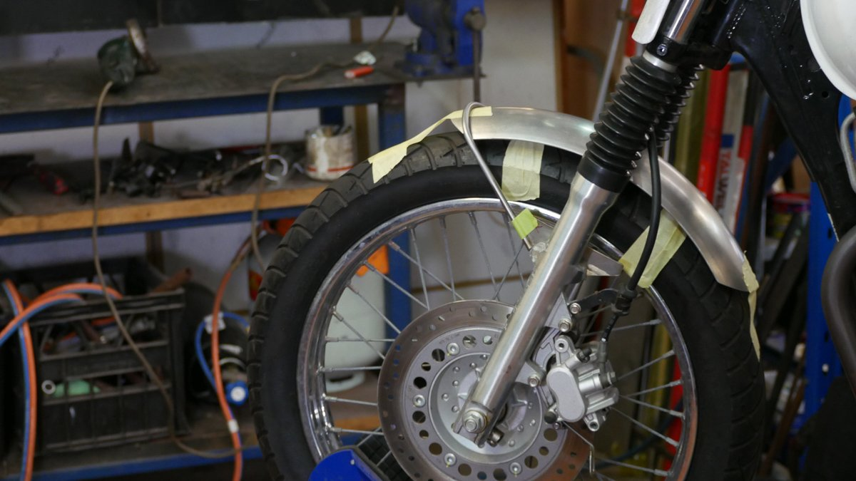 scrambler build front fender custom built
