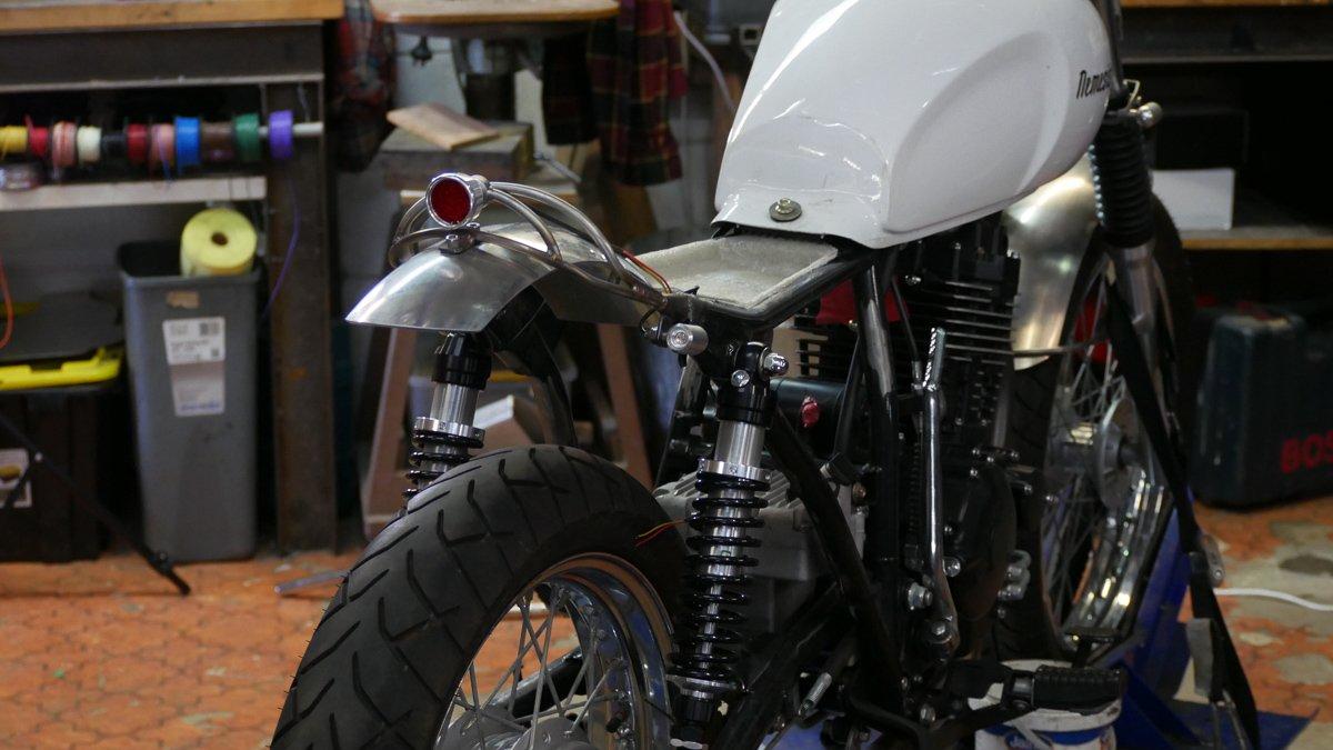 adventure scrambler build purpose built moto brisbane cafe racer