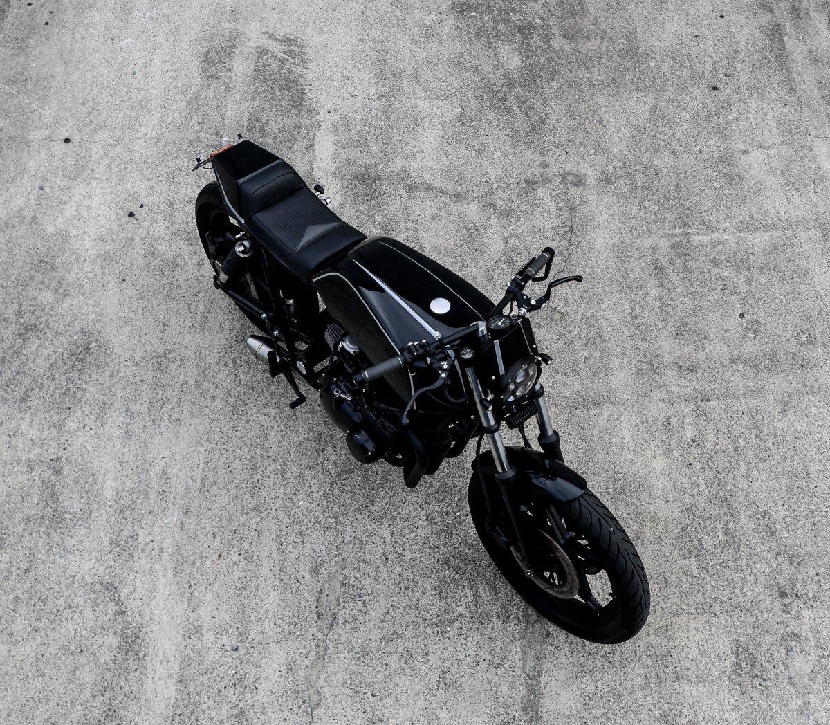 Suzuki GS650 classic cafe racer motorcycle builder brisbane