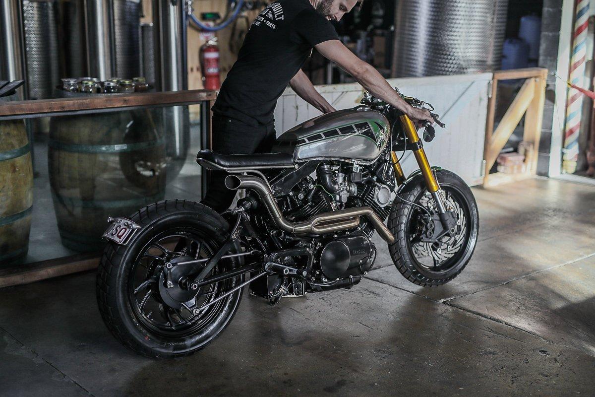 custom bike gold coast Yamaha XV750 brat cafe racer