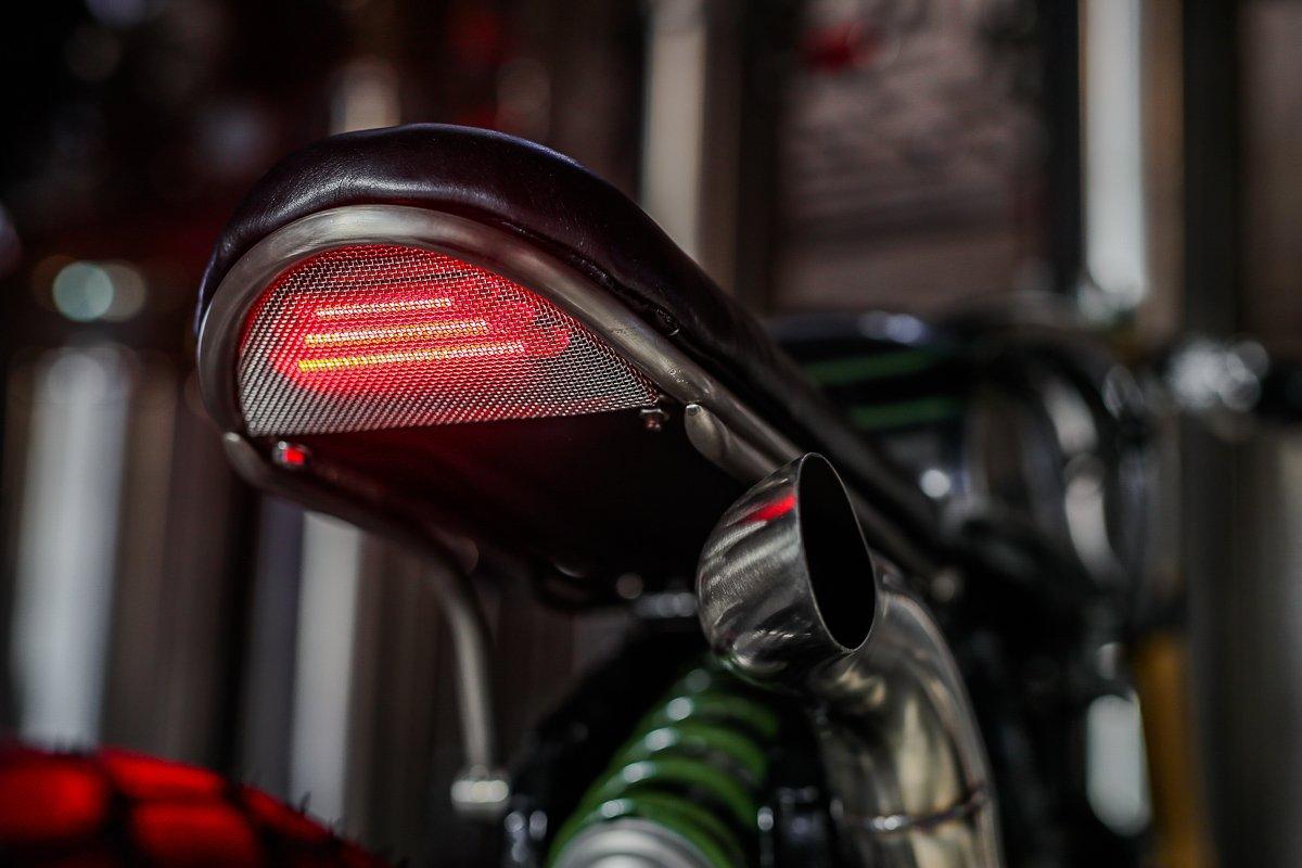 LED lights Cafe Racer purpose built moto XV750