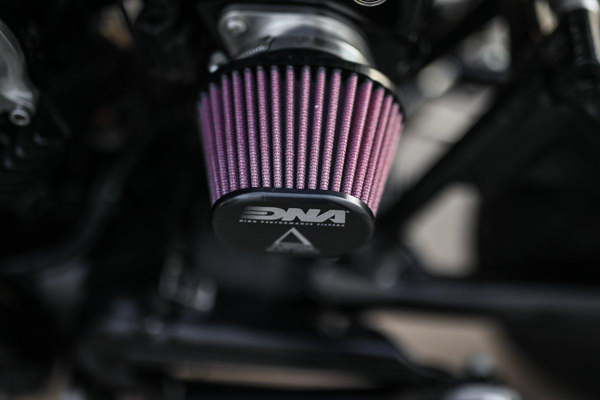 custom motorcycle performance air filter pod