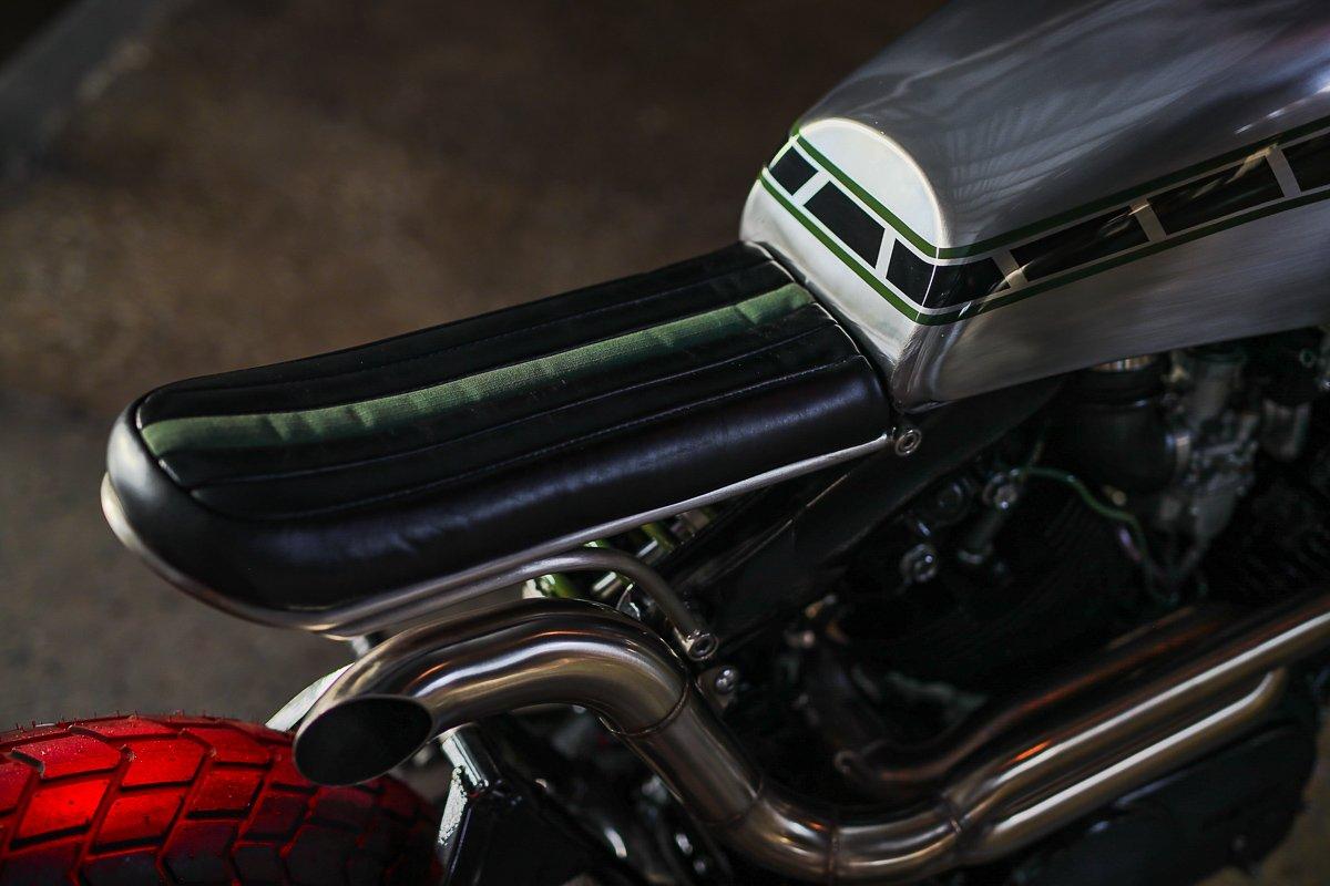 Custom bike seat leather upholstery Brisbane