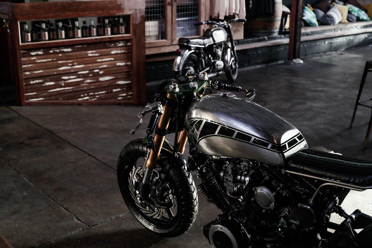 Custom Motorcycles brisbane purpose built moto Yamaha XV750 bobber