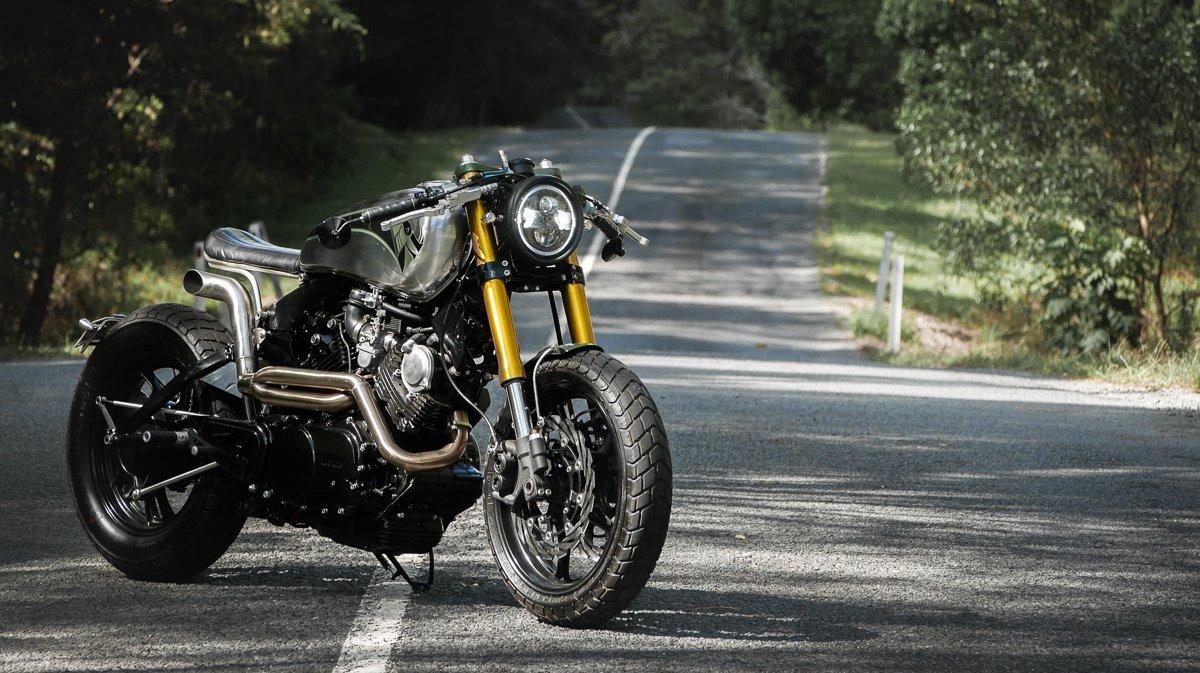 Custom Motorcycles brisbane purpose built moto Yamaha XV750
