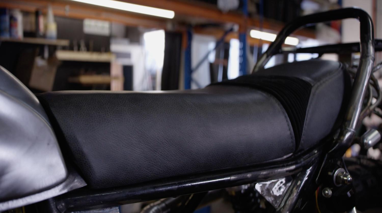 gold coast custom motorcucle seats finished leather upholstery