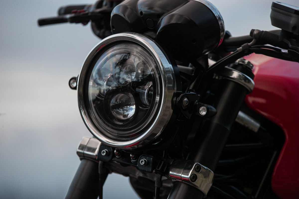 How to mount your LED Motorcycle Headlight - Purpose Built Moto