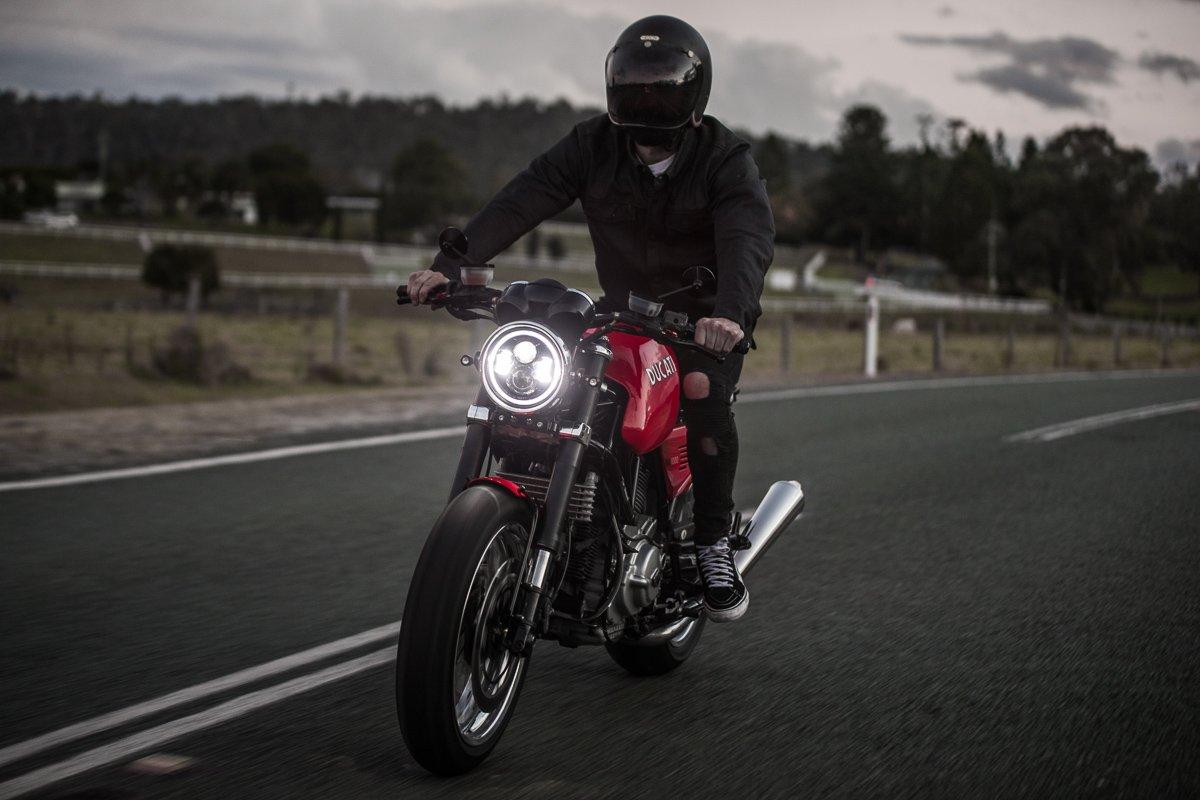 How to mount your Motorbike LED Headlight - Purpose Built Moto