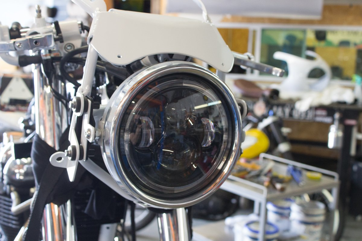 Flashpoint Classic Raw LED Headlight 7″ Purpose Built Moto