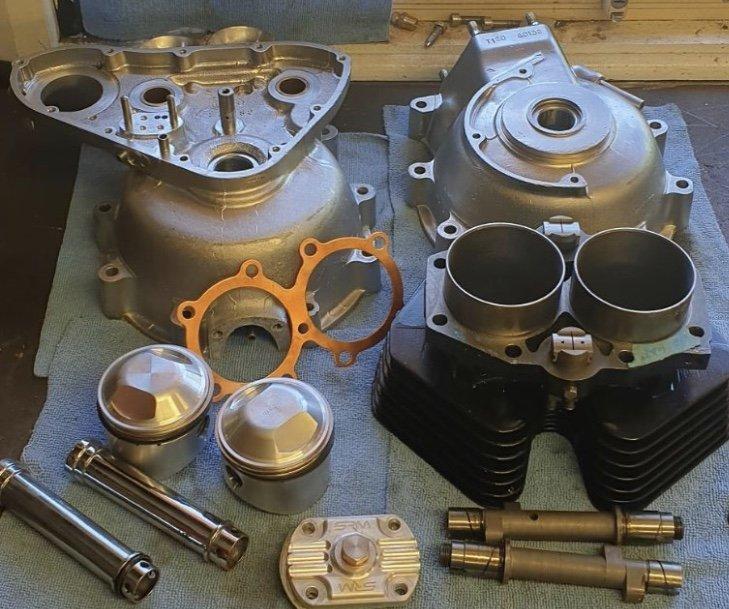 vintage triumph motor rebuild