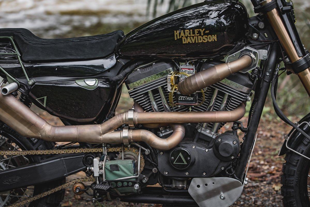 sportster exhaust purpose built moto