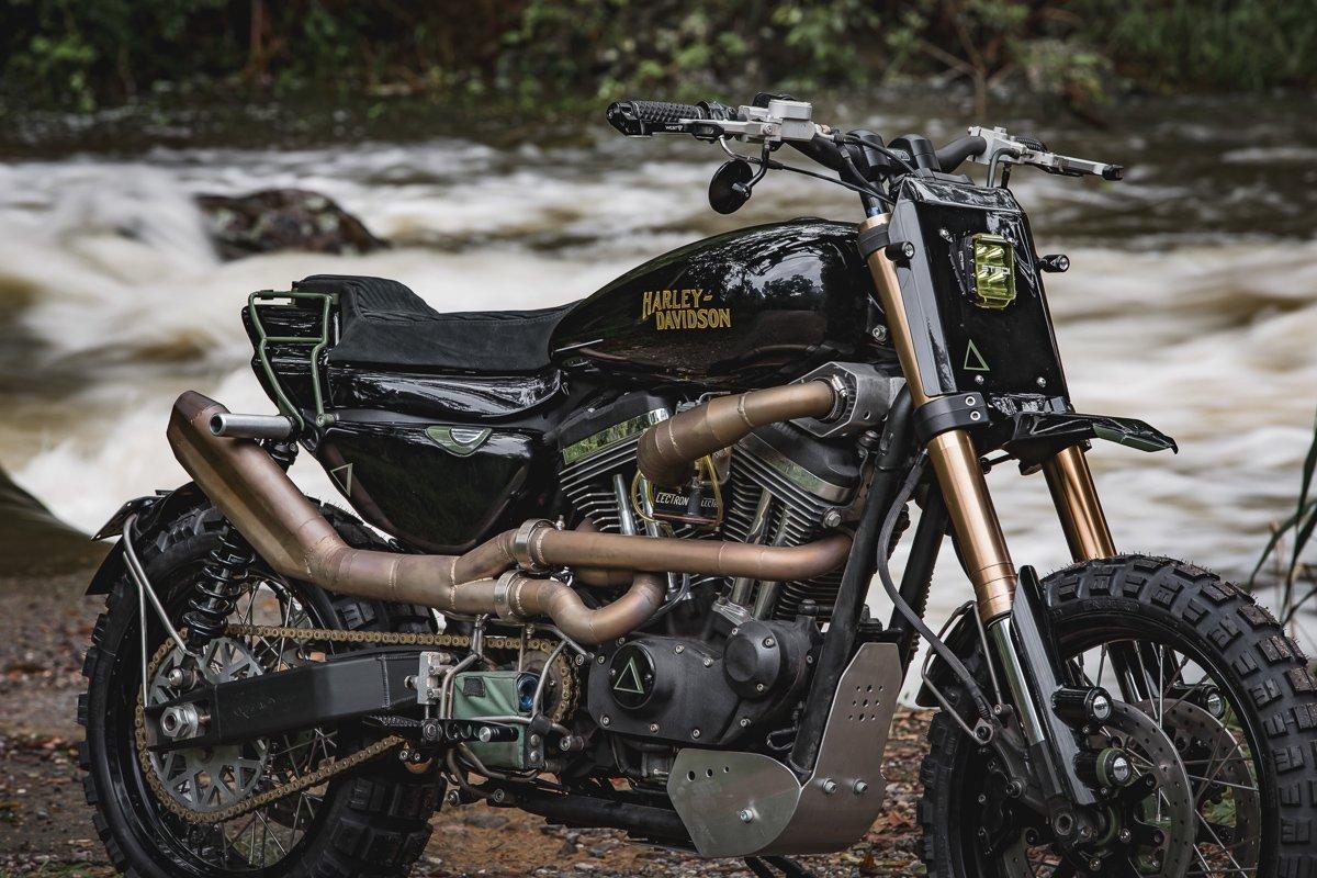 Harley davidson sportster scrambler tracker build