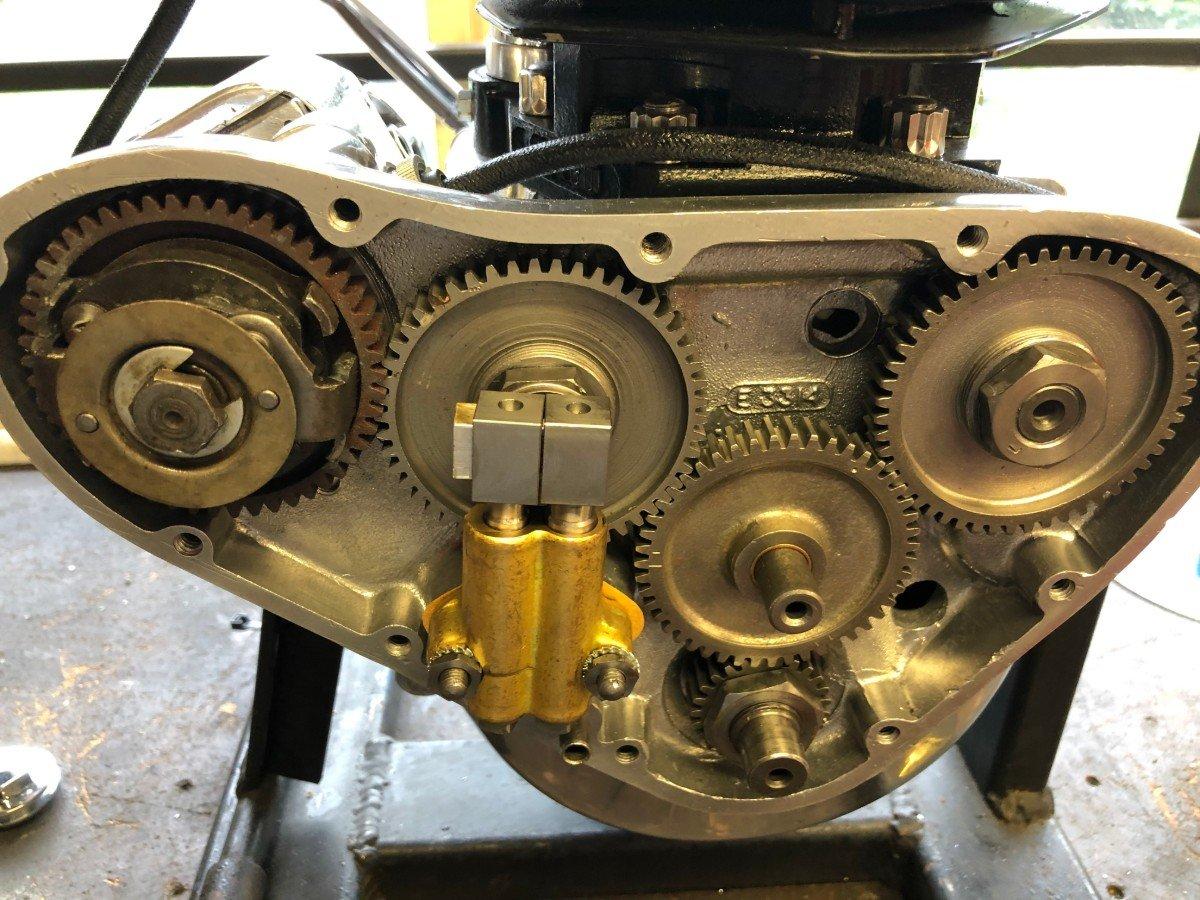 vintage triumph motor pre unit