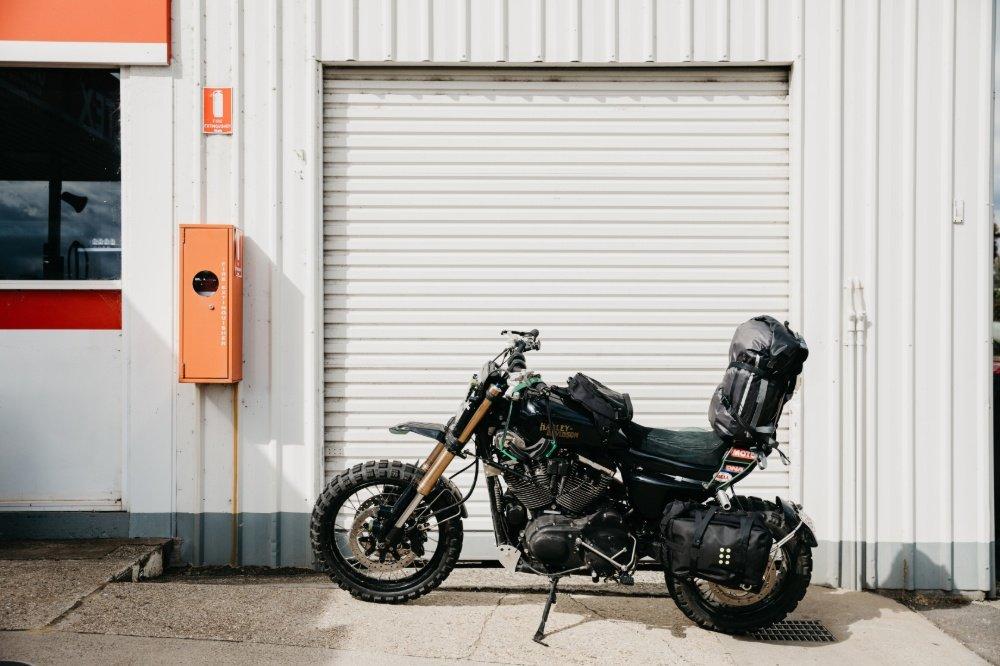 Sportster tracker build purpose built moto