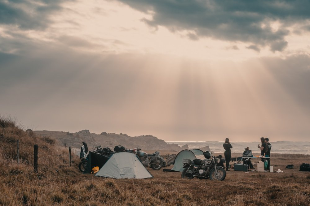 motorcycle camping adventure