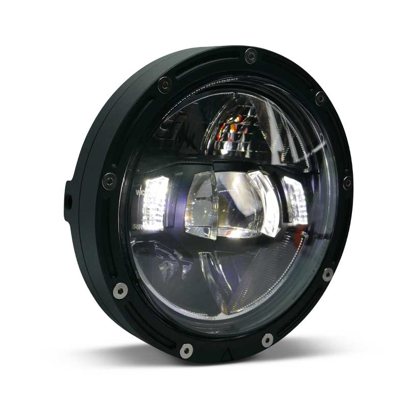 Flashpoint LED Black Premium Motorcycle Headlight