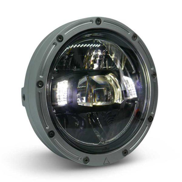 Premium Motorcycle LED Headlight 5'75' Raw