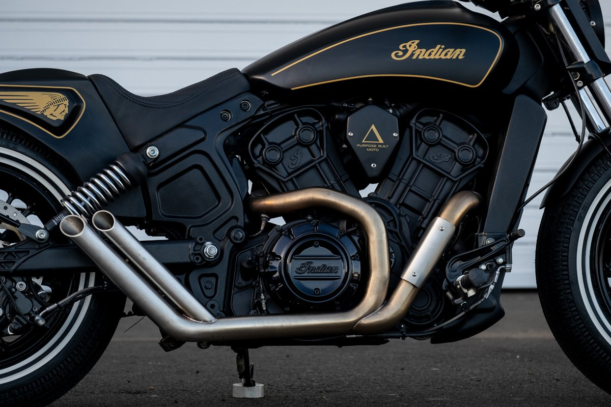 Custom Exhaust Indian Scout