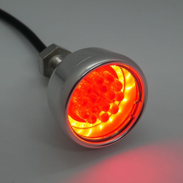 Chrome Motorcycle Tail Light