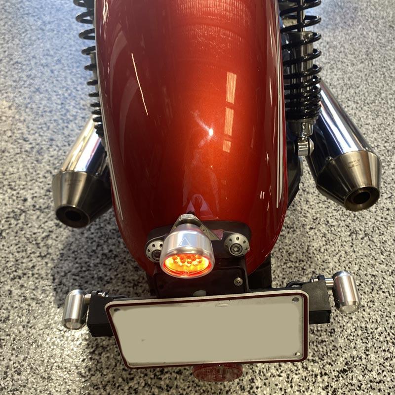 motorcyle tail light chrome