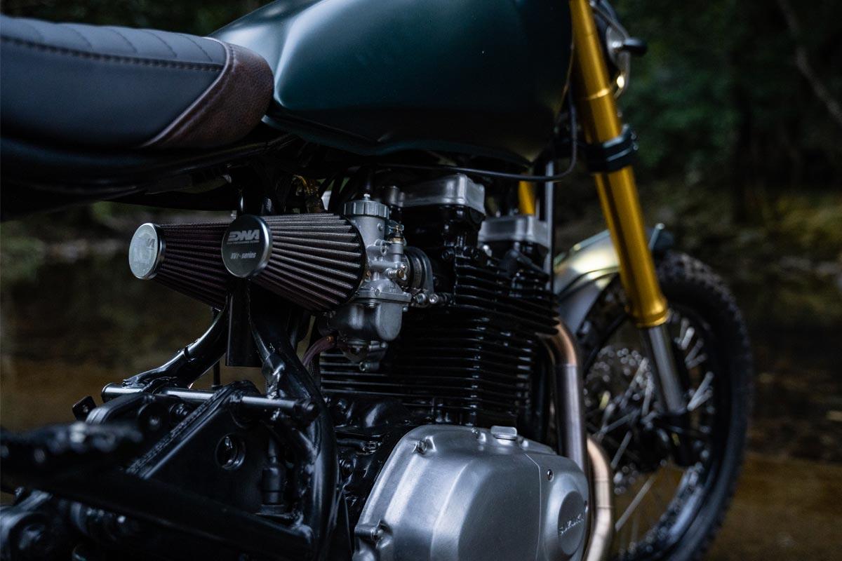 Custom Scrambler Motorcycle Air Pod Filters