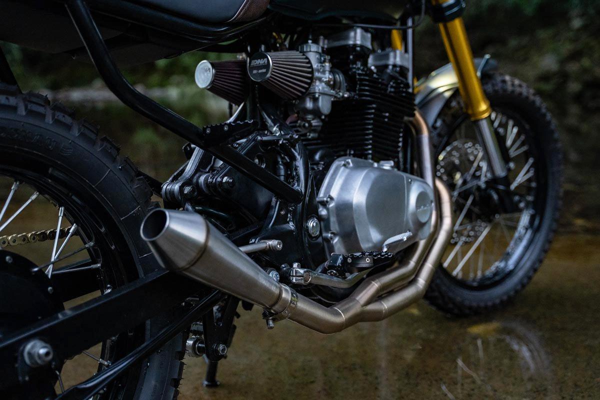 Honda GR650 Custom Motorcycle Exhaust Build Gold Coast