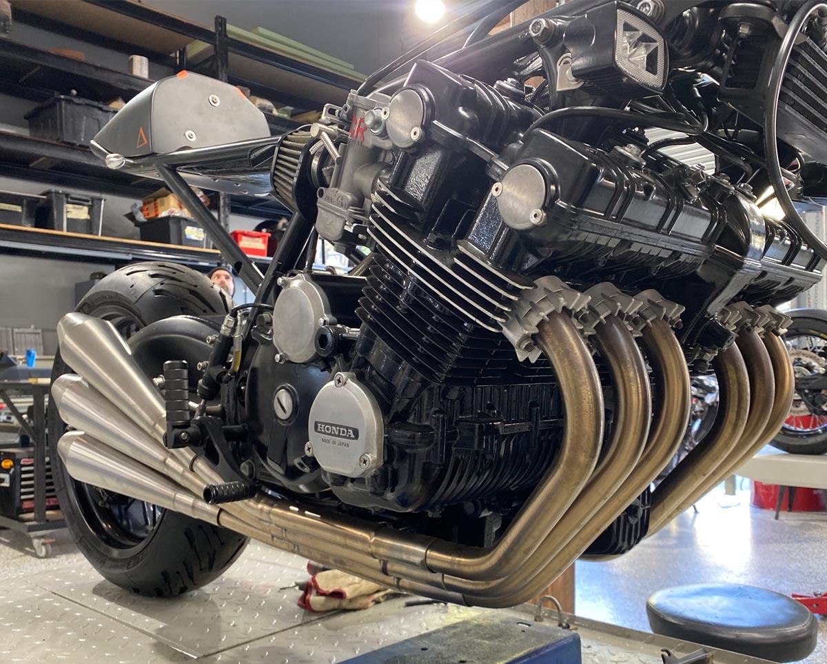 Honda CBX1000 Custom Exhaust system