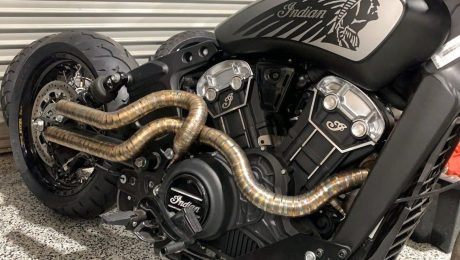 Indian Scout custom Exhaust System